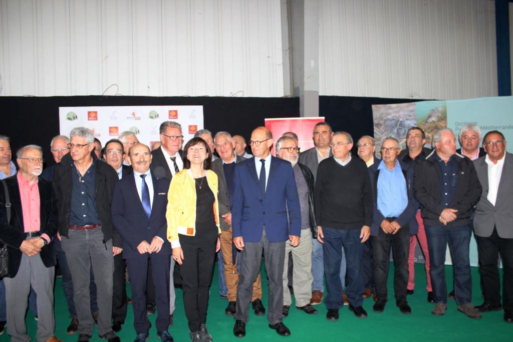 Carole DELGA et les Présidents des Fédérations des chasseurs et des pêcheurs